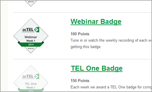 Badges - achieved and still to get