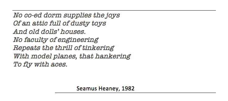 Seamus Heaney quotation