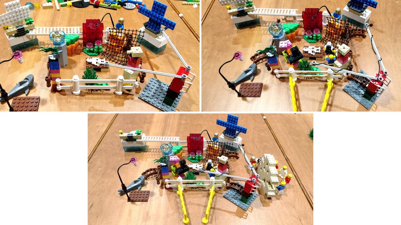 three lego builds